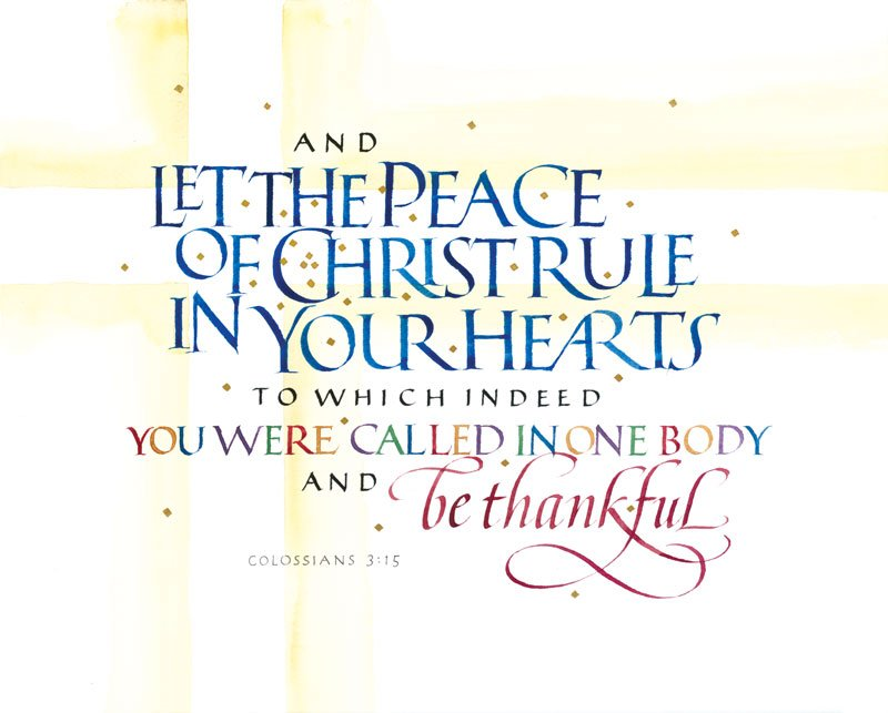 December 13 Colossians 3 15