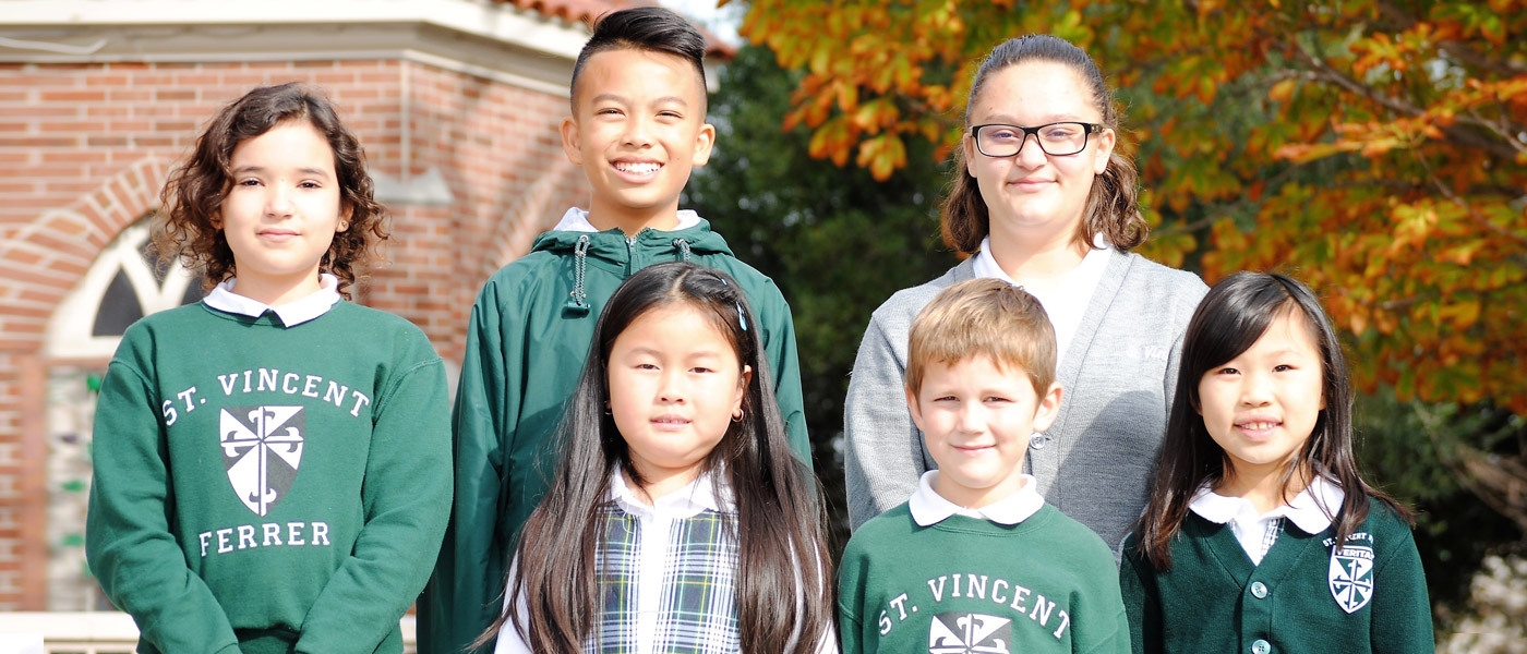 Third banner for Saint Vincent Ferrer School