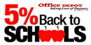 Office Depot 5 Back Logo