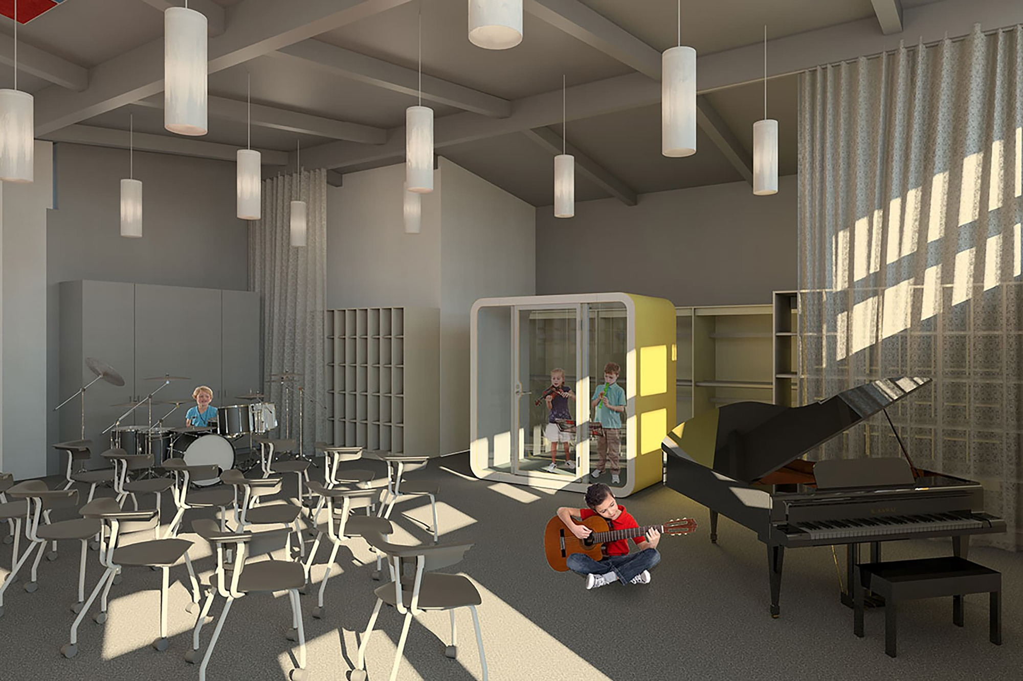 Rendering Music Room