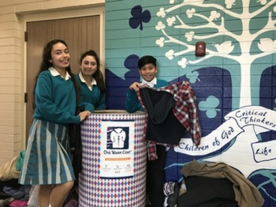 St. Finn Barr Students Give One Warm Coat