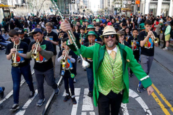 St. Finn Barr School Musicians March in the St. Patrick's Day Parade (March 16, 2019)