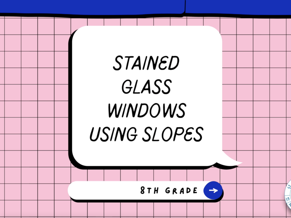8th Grade Stained Glass Windows Using Slopes image for St. Finn Barr Catholic School - undefined